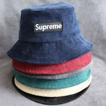 Supreme Women Fashion Letter Logo Beret Cap Painter Hat