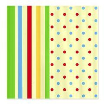 Colorful Stripes and Polka Dots Shower Curtain> Shower Curtains> We Tees You