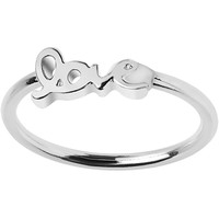 Silver Tone Love Mid Finger Ring - Size 3 | Body Candy Body Jewelry