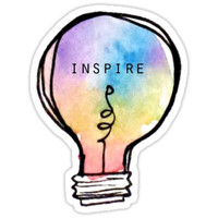 'Inspire' Sticker by erinaugusta