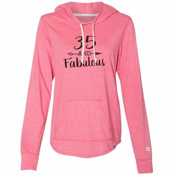 35 And Fabulous - Womens Champion Brand Hoodie - Hooded Sweatshirt