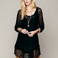 Free People  Shirred Peasant Tunic at Free People Clothing Boutique
