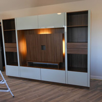 White Entertainment Centers in Manhasset - Custom Furniture Projects