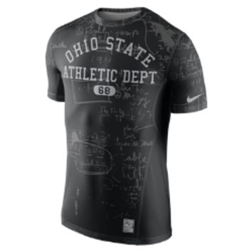 Nike Diamond Quest Pro Combat Hypercool 3.0 (Ohio State) Men's Shirt