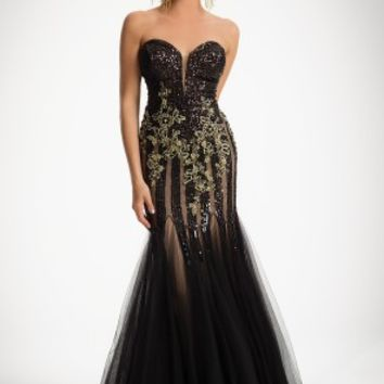 Strapless Allover Sequin Dress