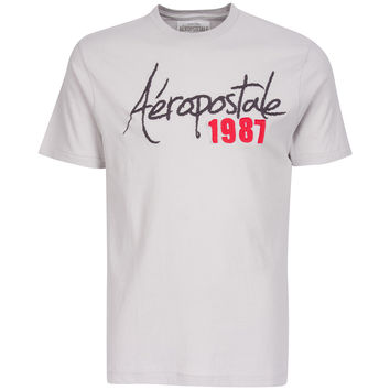 Aeropostale 1987 Mens Grey T Shirt