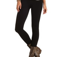 Black Fleece Lined Seamless Leggings by Charlotte Russe