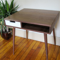 """Mid Century Inspired Writing Desk With Drawer. 30""""x 25"""""""