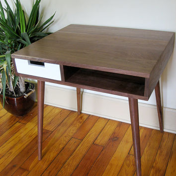 "Mid Century Inspired Writing Desk With Drawer. 30""x 25"""