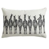 Zebras Lumbar Pillow