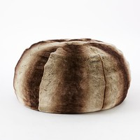 Faux Fur Ombre Bean Bag - Mocha