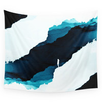 Society6 Teal Isolation Wall Tapestry