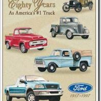 Tin Sign : Ford Trucks - 80 Year Tribute