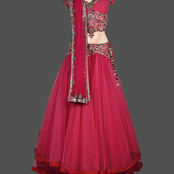 Pink color elegant lehenga choli