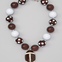 Brown Football Necklace