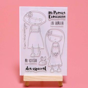 2018 new arrival Spanish Girl Transparent Clear Stamps for DIY Scrapbooking/Card Making/Kids  Fun Decoration Supplies