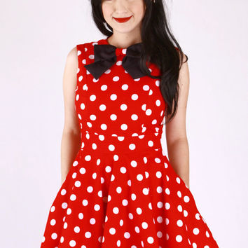 Minnie Mouse Red and White Polka Dot Dress