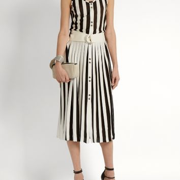 Striped-knit sleeveless dress | Nina Ricci | MATCHESFASHION.COM US