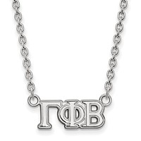 Sterling Silver Gamma Phi Beta Small Necklace
