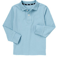 Uniform Long Sleeve Pique Polo Shirt