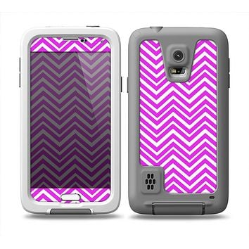 The Hot Pink Thin Sharp Chevron Skin Samsung Galaxy S5 frē LifeProof Case
