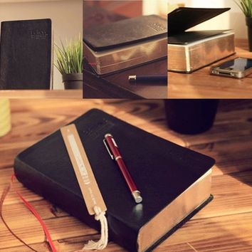 640 pages Vintage Classic Journal Diary Book Sketchbook Leather Cover Thick Blank Notebook