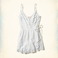 Girls Woven Wrap-Front Romper | Girls New Arrivals | HollisterCo.com