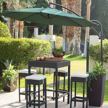 9-ft. Cantilever Offset Patio Umbrella with Forest Green Shade