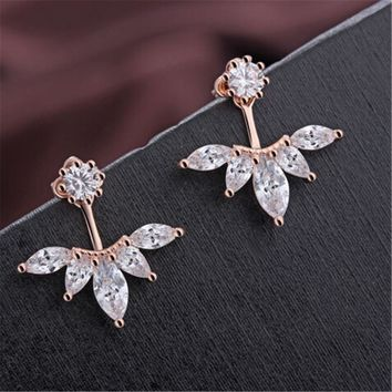 Rose Gold Water Drop Simple Stud Earrings