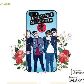 5S0S Phone Cases, iPhone 5/5S Case, iPhone 5C Case, iPhone 4/4S Case, Galaxy S3 S4 S5 Note 2 Note 3 Case 5 seconds of summer-A081