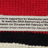 Sale!! Vintage Derby Manchester United vs Manchester City feb 2008 soccer scarf football jersey MUFC MCFC Shirt