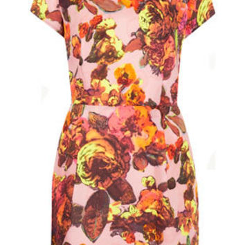 Floral Printed Shift Dress - Dresses  - Clothing