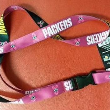 "NFL Green Bay Packers BCA Lanyard with Detachable Buckle ( 3/4"" W  X  22"" L )"