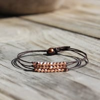Rose Gold Completion Bracelet by ALEPHTAVJEWELRY on Etsy