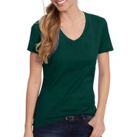 Women's Lightweight Short Sleeve V-neck T Shirt - Walmart.com