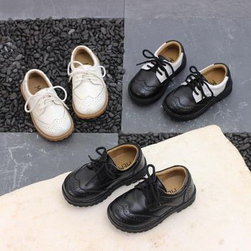 Genuine Leather Baby Boy Girls Anti-slippery Dr Kids Shoes Children 1461 Martens Walking Shoes Wearable Breathable Sneakers