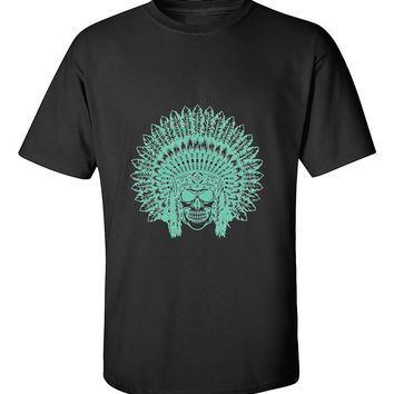 Indian Sugar Skull Headdress Native Americans T-Shirt