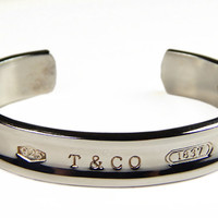 Vintage Tiffany And Co. Sterling Silver Bangle Bracelet - Cuff Bracelet - 925 - Tiffany's - T & Co. - Vintage Sterling - Vintage Jewelry