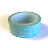 Washi Tape,Mint Green Lace, Love My Tapes Brand, 15mm x 10m (over 32 ft.)