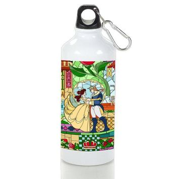 Gift Sport Bottles | Beauty And The Beast Stained Glasses Aluminum Sport Bottles