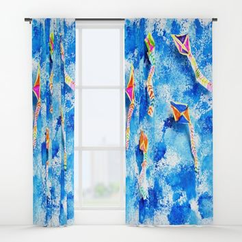 FREE SPiRiT KiTES Window Curtains by Azima