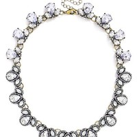 Women's Baublebar 'Pave Pear' Crystal Collar Necklace