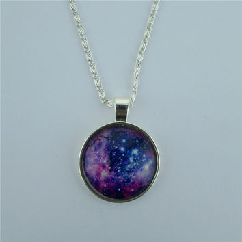 New Fashion Starry Sky Time Diamond Necklace