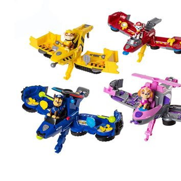 Paw Patrol Flip Fly Vehicle toys Can Have Fun With This 2-in-1 Vehicle Transforming From Bulldozer to a Jet Kids