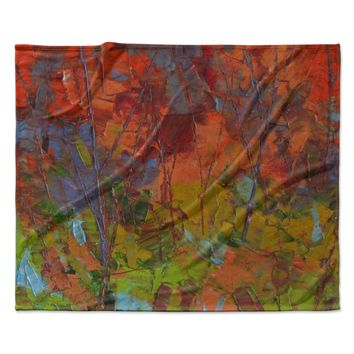 "Jeff Ferst ""Fall Colours"" Red Painting Fleece Throw Blanket"
