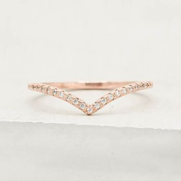 V Ring - Rose Gold