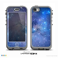 The Blue & Purple Mixed Universe Skin for the iPhone 5c nüüd LifeProof Case