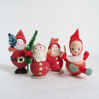 Vintage Elves Pixie Christmas Ornaments Figurines Collectibles Japan Germany Home Decor Gnomes Santa
