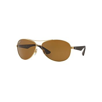 Wire-Frame Metal Sunglasses, Matte Gold - Ray-Ban