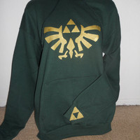 back for LIMITED TIME green Legend of Zelda pullover hoodie adult